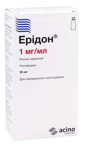 Ерідон розчин оральний 1 мг/мл 30 мл 1 флакон