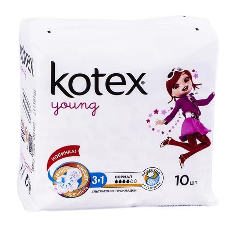 Kotex Young Нормал Плюс Прокладки гігієнічні 10 шт