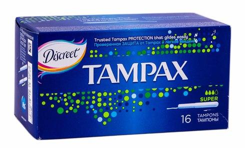 Tampax Super  Тампони з аплікатором 16 шт