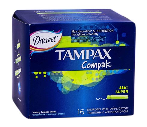 Tampax Compak  Super Тампони з аплікатором  16 шт