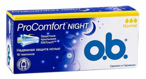o.b. ProComfort Night Normal Тампони 16 шт