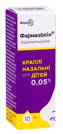 Фармазолін краплі назальні 0,05 % 10 мл 1 флакон