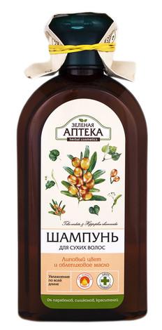 Зелена Аптека Шампунь для сухого волосся Липовий цвіт та обліпихова олія 350 мл 1 флакон