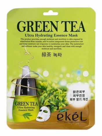 Ekel Маска для обличчя з екстрактом Зеленого Чаю 25 мл 1 пакет