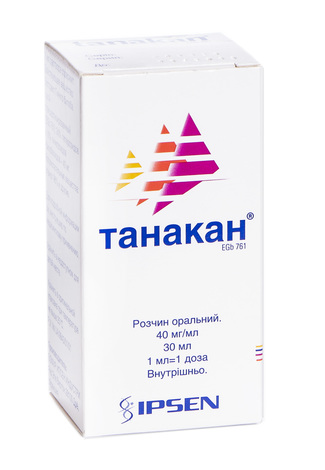 Танакан розчин оральний 40 мг/мл 30 мл 1 флакон
