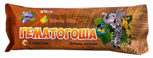 Tabula Vita Гематогоша з арахісом плитка 40 г