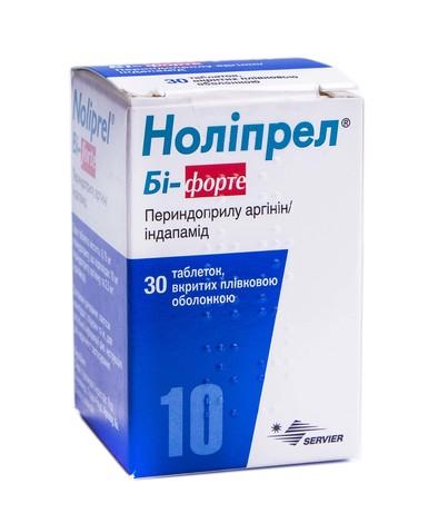 Ноліпрел Бі-форте таблетки 10 мг/2,5 мг  30 шт