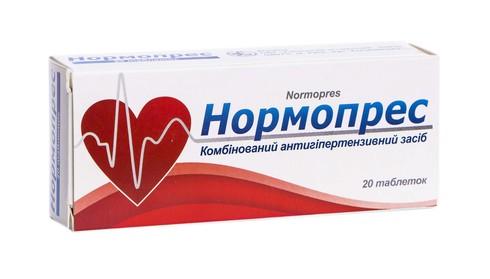 Нормопрес таблетки 50 мг/25 мг  20 шт