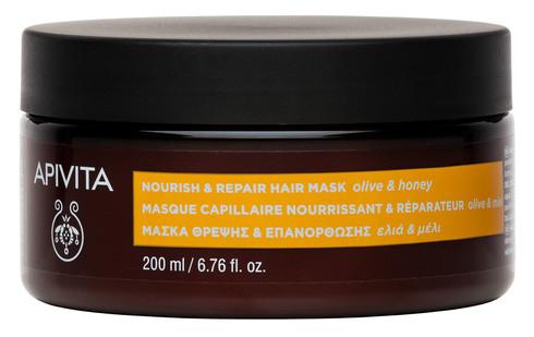 Apivita Маска живильна і відновлювальна для волосся з оливою та медом 200 мл 1 банка