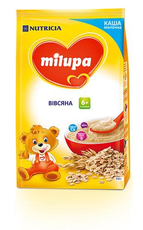 Milupa Каша молочна вівсяна з 6 місяців 210 г 1 пакет
