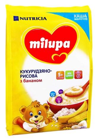 Milupa Каша молочна кукурудзяно-рисова з бананом без цукру з 5 місяців 210 г 1 пакет
