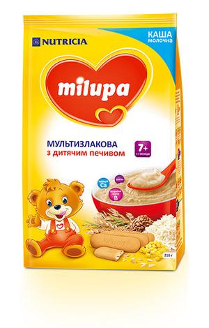 Milupa Каша молочна мультизлакова з дитячим печивом з 7 місяців 210 г 1 пакет