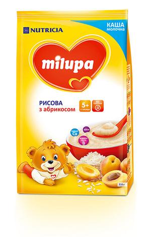 Milupa Каша молочна рисова з абрикосом з 5 місяців 210 г 1 пакет