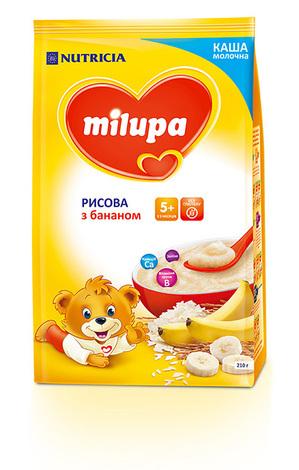 Milupa Каша молочна рисова з бананом з 5 місяців 210 г 1 пакет