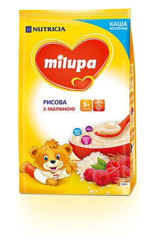 Milupa Каша молочна рисова з малиною з 5 місяців 210 г 1 пакет