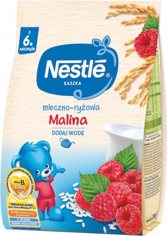 Nestle Каша молочно-рисова з малиною та біфідобактеріями з 6 місяців 230 г 1 пакет