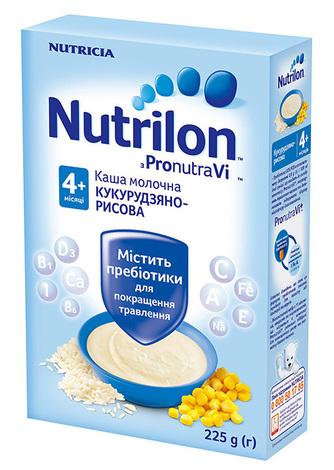 Nutrilon Каша кукурудзяно-рисова з 4 місяці 225 г 1 коробка