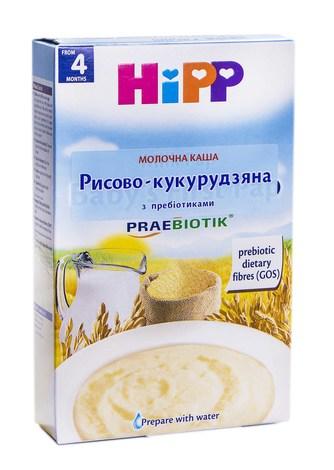 HiPP Каша молочна Рисово-кукурудзяна з пребіотиками з 4 місяців 250 г 1 коробка