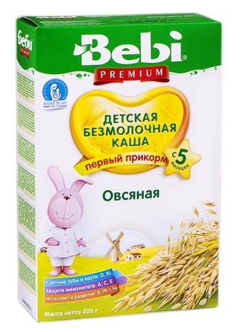Bebi Каша безмолочна вівсяна з 5 місяців 200 г 1 коробка