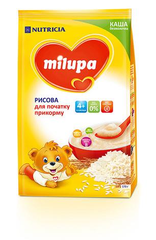 Milupa Каша безмолочна рисова без цукру з 4 місяців 170 г 1 пакет