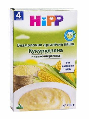 HiPP Каша безмолочна органічна Кукурудзяна низькоалергенна з 4 місяців 200 г 1 коробка