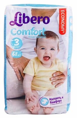 Libero Comfort 3 Підгузки дитячі 4-9 кг 68 шт