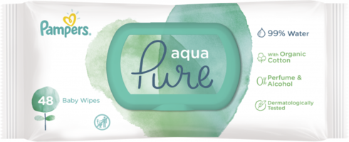 Pampers Серветки вологі дитячі Aqua Pure 48 шт