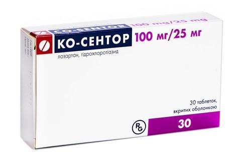 Ко-сентор таблетки 100 мг/25 мг  30 шт