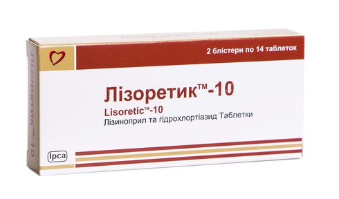 Лізоретик-10 таблетки 10 мг 28 шт