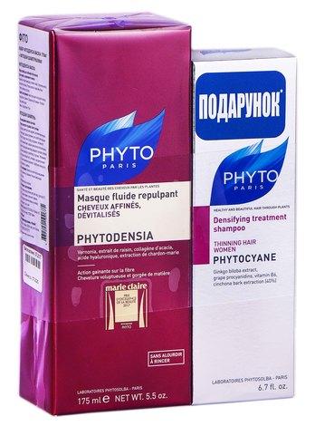 Phyto Phytodensia маска 175 мл + Phytocyane шампунь 200 мл 1 набір