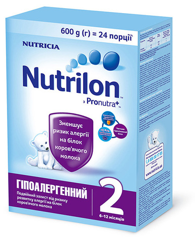 Nutrilon Гіпоалергенний 2 Суміш молочна від 6 місяців 600 г 1 коробка