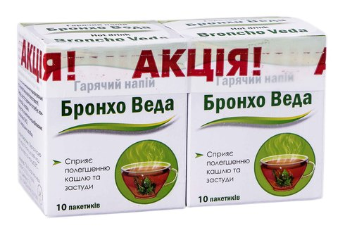 Бронхо Веда гарячий напій порошок для орального розчину 10 шт