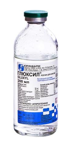Глюксил розчин для інфузій 200 мл 1 флакон