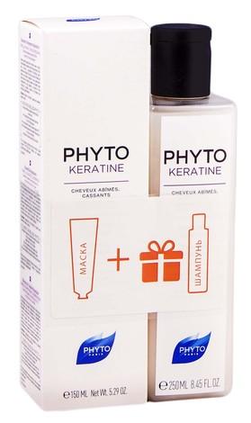 Phyto Keratine Маска інтенсивна відновлююча 150 мл + Шампунь відновлюючий 250 мл 1 набір