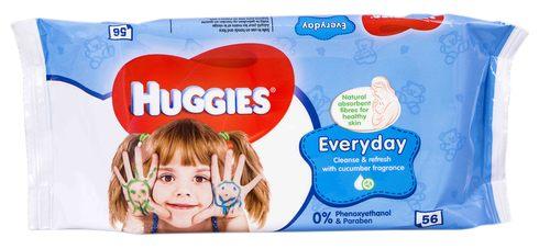 Huggies Everyday Серветки вологі дитячі 56 шт