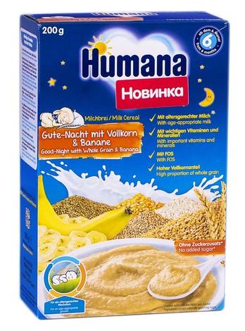 Humana Каша молочна з бананом багатозлакова Солодкі сни від 6 місяців 200 г 1 коробка