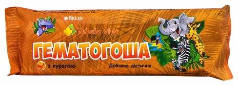 Tabula Vita Гематогоша з курагою плитка 40 г