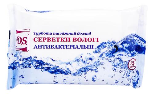 Серветки вологі D.S. антибактеріальні 15 шт
