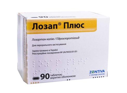 Лозап Плюс таблетки 50 мг/12,5 мг  90 шт