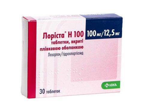 Лоріста Н таблетки 100 мг/12,5 мг  30 шт