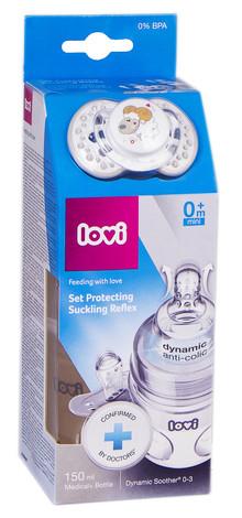 Canpol Babies Набір Захист рефлексу ссання Lovi пляшка 150 мл + пустушка 0-3 місяців 0120 1 шт