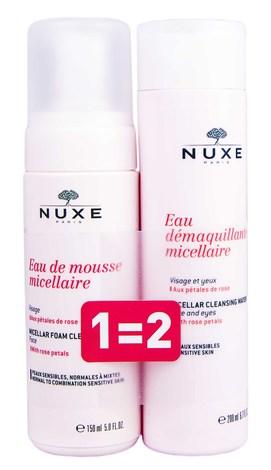 Nuxe Мус міцелярний 150 мл + Міцелярна вода 200 мл 1 набір