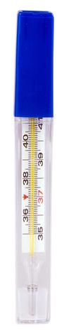 Волес Термометр медичний скляний ртутний 1 шт