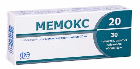 Мемокс таблетки 20 мг 30 шт