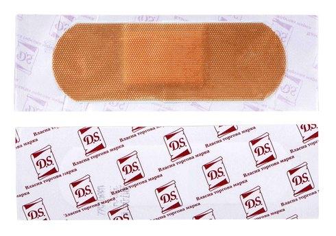 Пластир бактерицидний D.S. на полімерній основі 7,2х2,5 см 1 шт