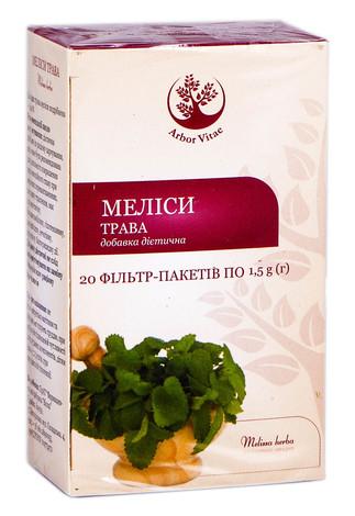 Arbor Vitae Меліси трава 1,5 г 20 фільтр-пакетів