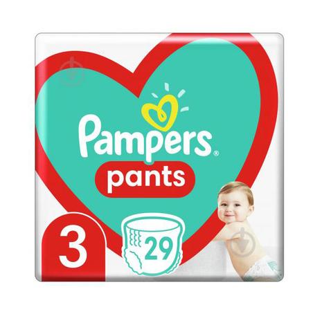 Pampers Pants 3 Підгузки-трусики дитячі 6-11 кг 29 шт