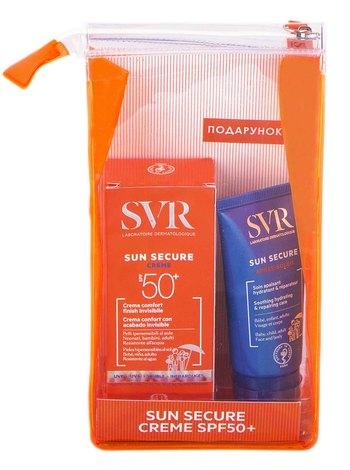 SVR Sun Secure сонцезахисний крем SPF-50+ 50 мл + заспокійливий догляд після сонця 50 мл 1 набір