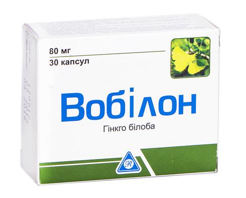 Вобілон капсули 80 мг 30 шт