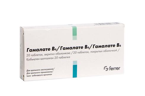 Гамалате В6 таблетки 20 шт